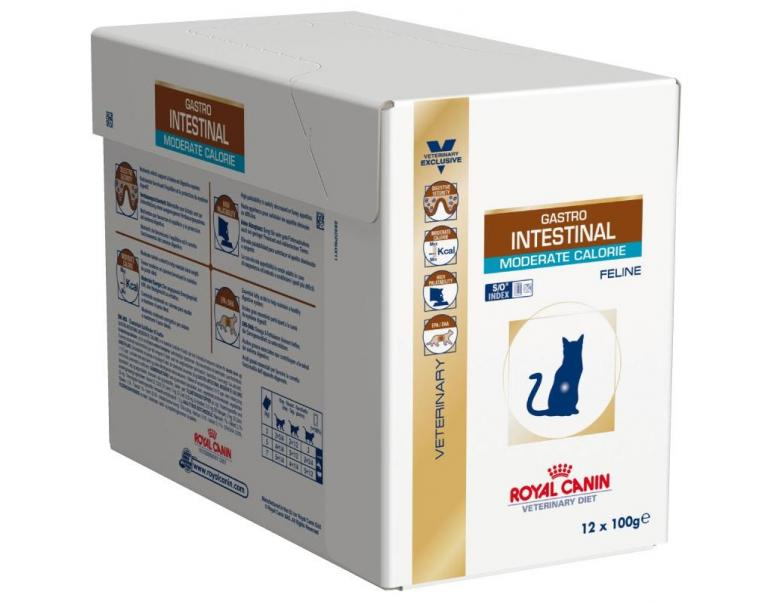 PACK AHORRO Royal Canin Feline Gastrointestinal Moderate Calorie 12x100gr