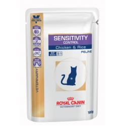 PACK AHORRO Royal Canin VD Gato Sensitivity Pollo 12x100g