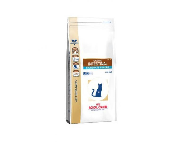 PACK AHORRO Royal Canin Veterinary Diet Gastro Intestinal Moderate Calorie 2 x 4 Kg