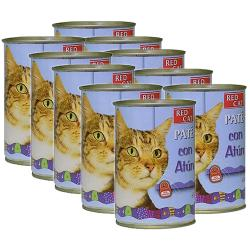 PACK AHORRO Red Cat Paté Rico en Atún Para Gatos 10x400g