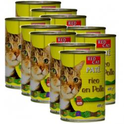 PACK AHORRO Red Cat Paté Rico en Pollo Para Gatos 10x400g