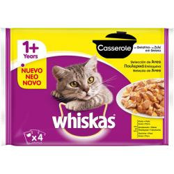 PACK AHORRO Whiskas Casserole Aves 4 x 85 g