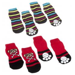 Pet socks antislip medium (x4)