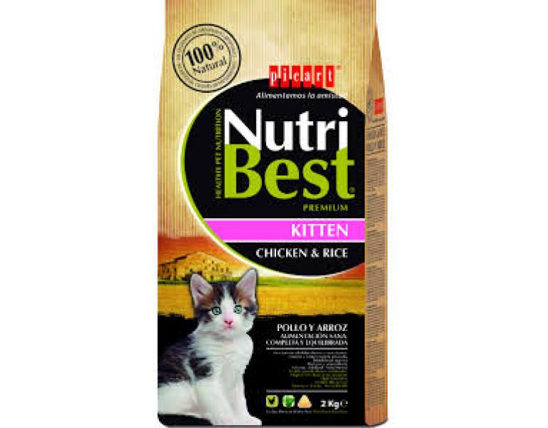 Picart Nutribest Kitten Pollo y Arroz 2kg