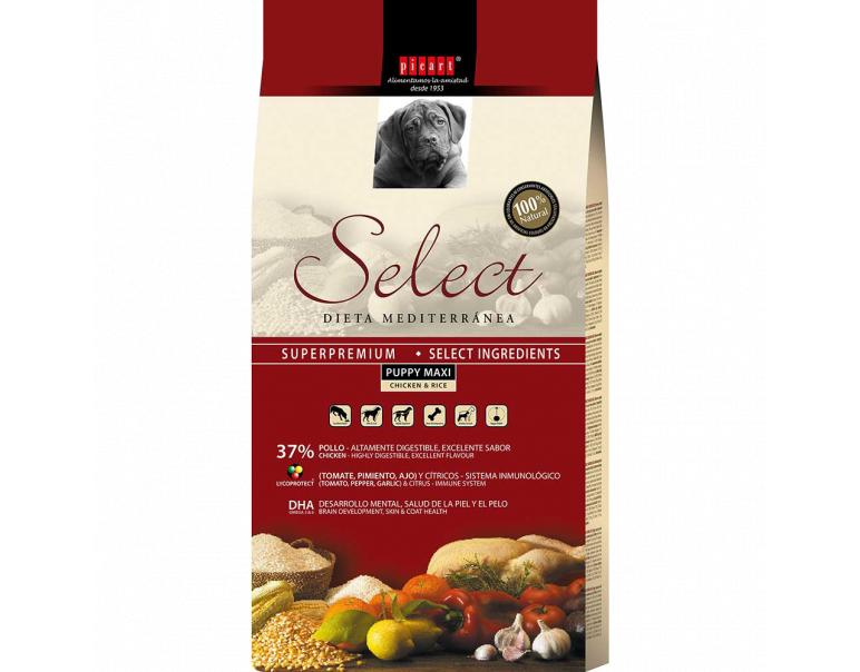 Picart Select Cachorro Maxi Pollo y Arroz 3 kg