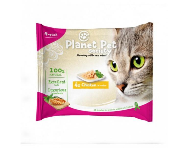 Planet Pet Gato Pouch Pack Pollo 4x50g