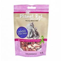 Planet Pet Gato Snack Pollo y Pescado Twist 30g