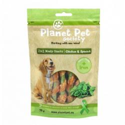 Planet Pet Snack Frutas Pollo y Espinacas 70g
