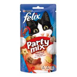PACK AHORRO Purina Felix Party Mix Mixed Grill Gatos 8x60g