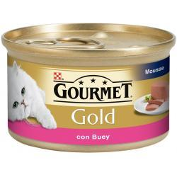PACK AHORRO Purina Gourmet Gold Mousse con Buey 24 x 85 g