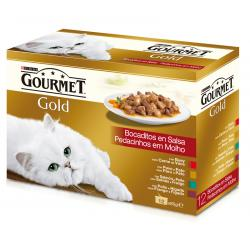 Purina Gourmet Gold Multipack 4 sabores 12 x 85g