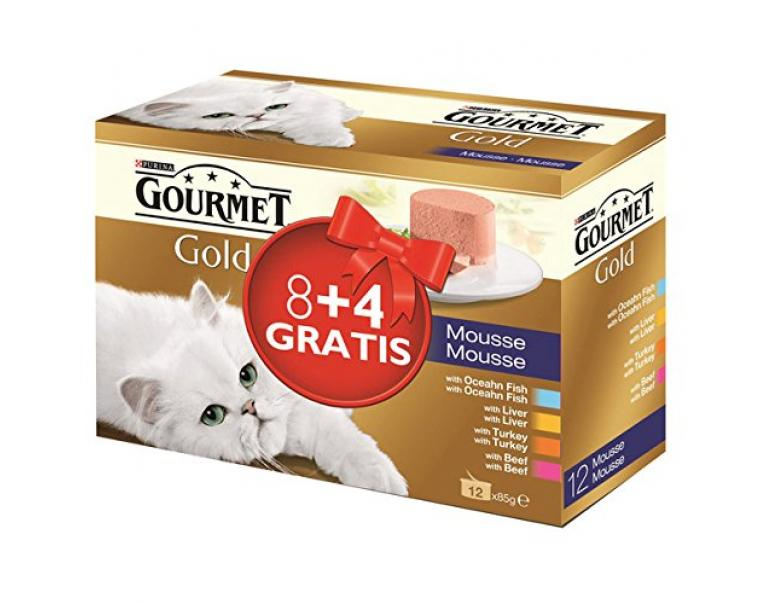 Purina Gourmet Gold Multipack 4 Sabores (8x85gr + 4x85gr)