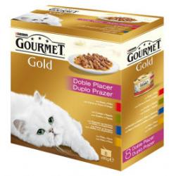 Purina Gourmet Gold Multipack Doble Placer 4 sabores 8 x 85g