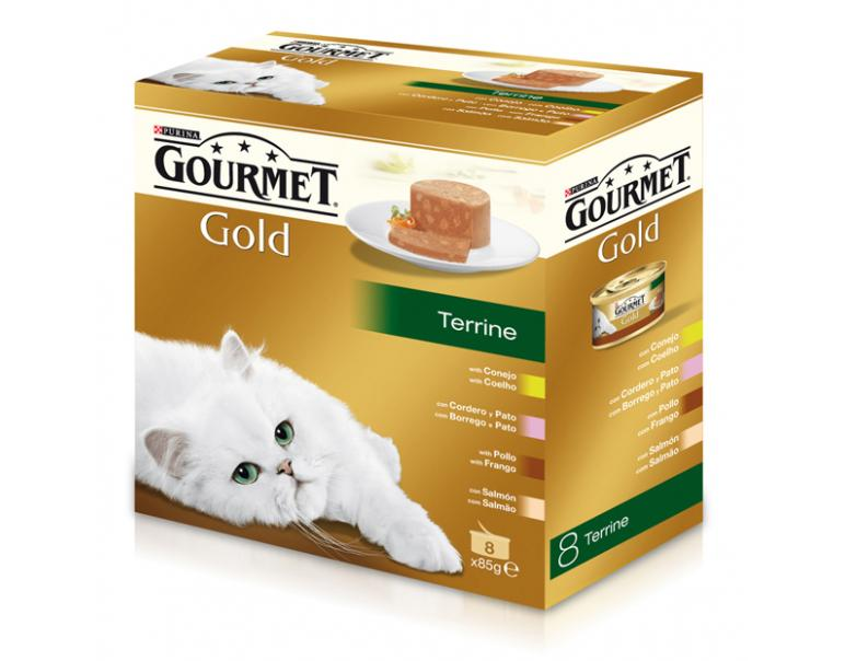 Purina Gourmet Gold Multipack Terrine 4 sabores 8 x 85g