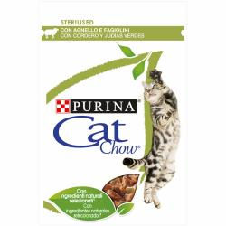 PACK AHORRO Purina Cat Chow Adulto Cordero y Judía 10x85g