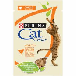 PACK AHORRO Purina Cat Chow Adulto Pollo y Calabaza 10x85g