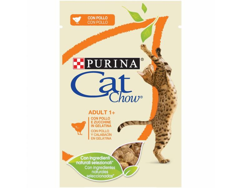 PACK AHORRO Purina Cat Chow Adulto Pollo y Calabaza 12x85g