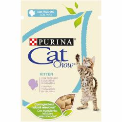 PACK AHORRO Purina Cat Chow Junior Pavo y Calabaza 12x85g