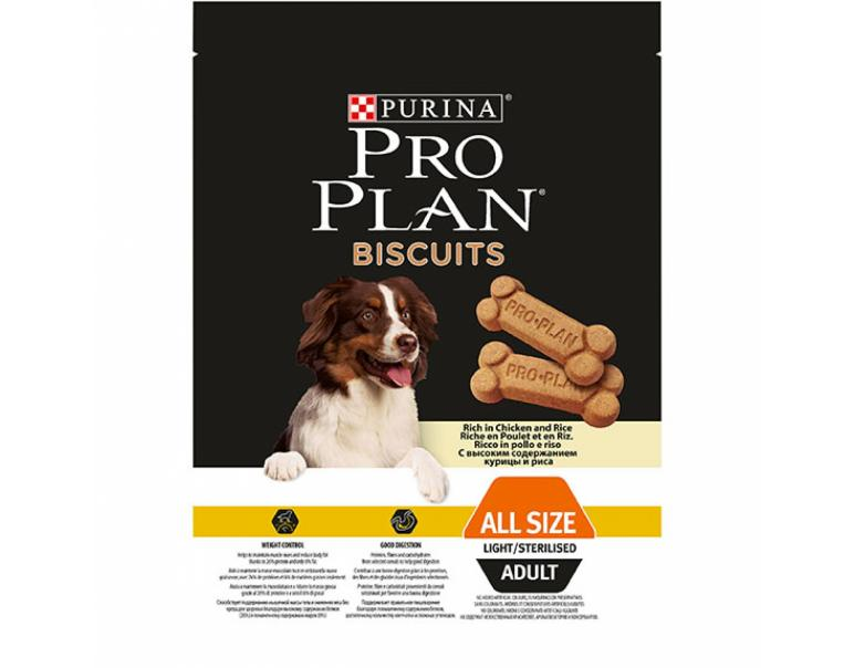 Purina Pro Plan Biscuits Light Adult 400g