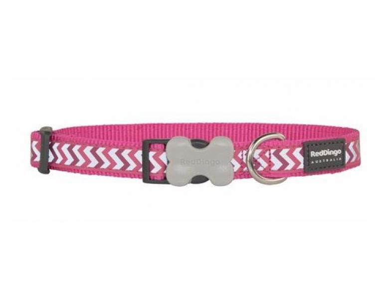 Red Dingo Collar Reflectante S 20-32cm Fucsia