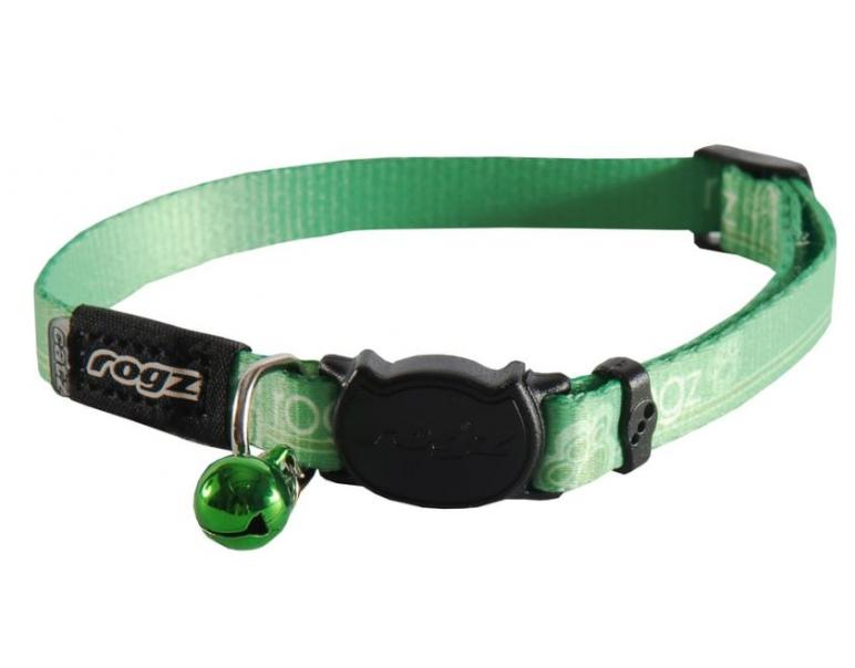 Rogz Collar Kiddycat Verde