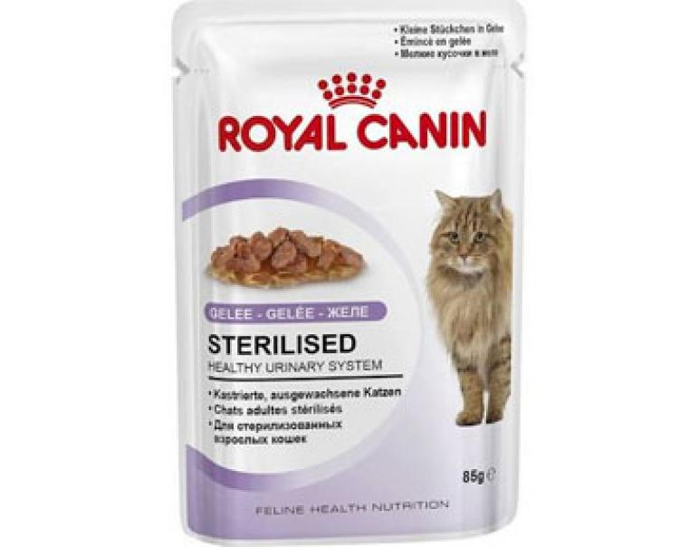 Royal Canin Gatos Sterilised Gelatina 85g