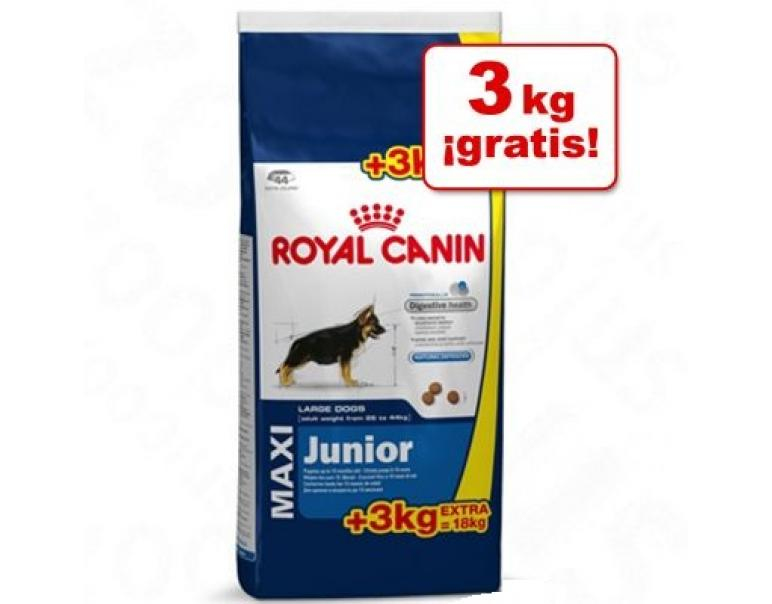 Royal Canin Maxi Junior 15kg + 3kg extra
