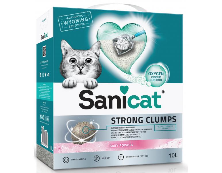 Sanicat Strong Clumps Arena Gatos 10 L