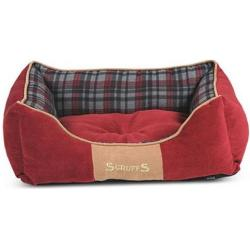 Scruffs Highland Box Bed Rojo M 60 x 50 cm