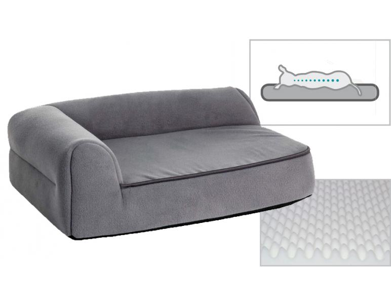 PetPlus Sofá Mediano Chaise Longue Viscoelástico Gris