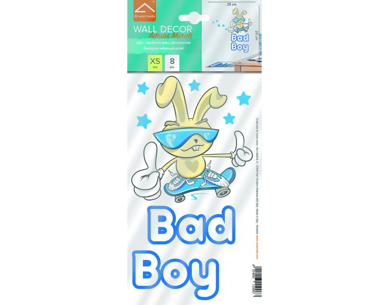 "Saint Honoré Sticker ""Bad Boy"" Azul 8 Pcs"
