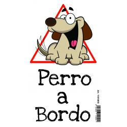 "Saint Honoré Sticker ""Perro Bordo"" Marrón 4 Pcs"