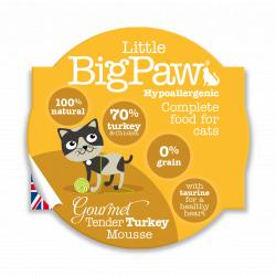 PACK AHORRO Big Paw Gourmet Pavo Mousse 8x85gr