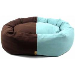 TPL Cama para Perros Color Chocolate y Mint 68x61x23cm