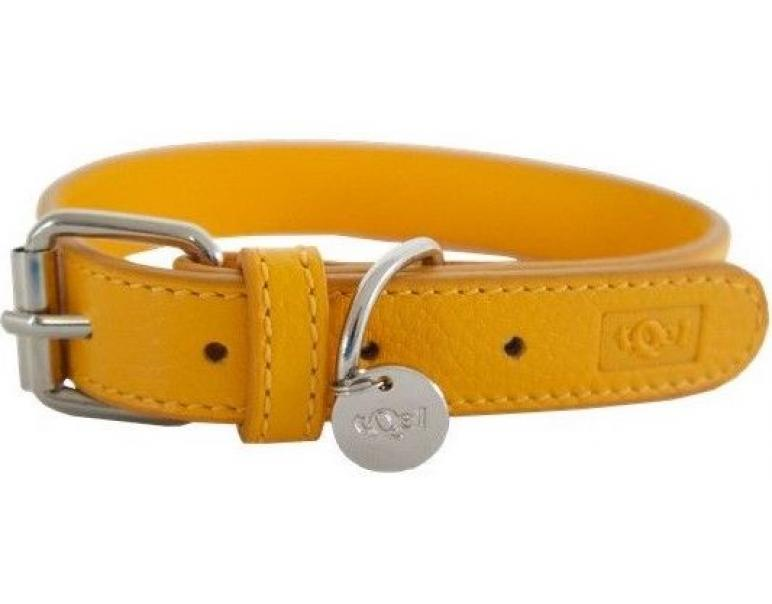 tQel Collar de Piel Color Amarillo Talla L (35 cm)