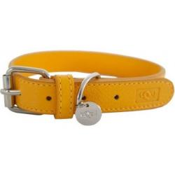 tQel Collar de Piel Color Amarillo Talla XS (20cm)