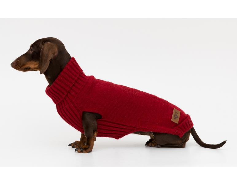 tQel Dog Trends Jersey De Punto Dark Red Talla 25 - XXS