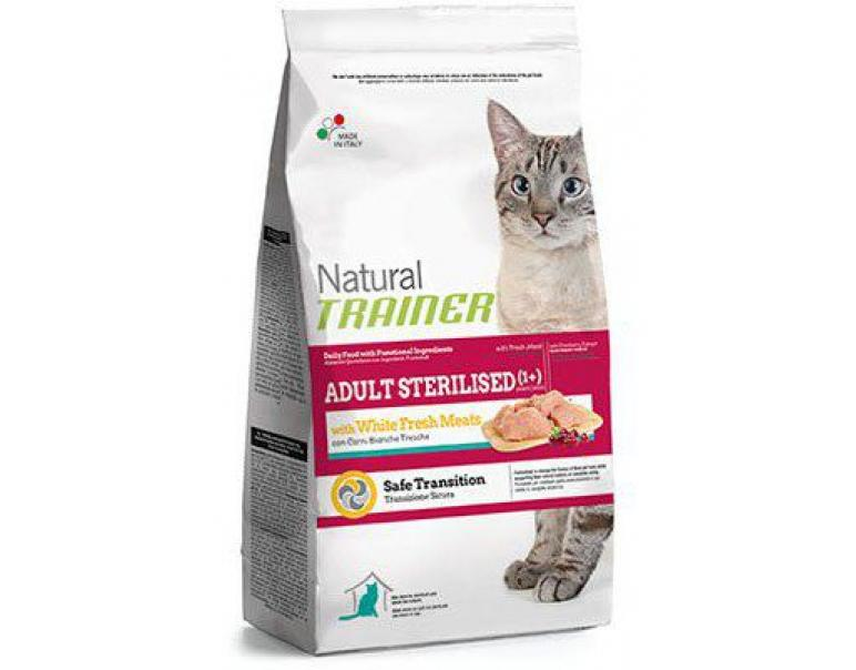 Trainer Natural Cat Adult Sterilized White Meat 3Kg