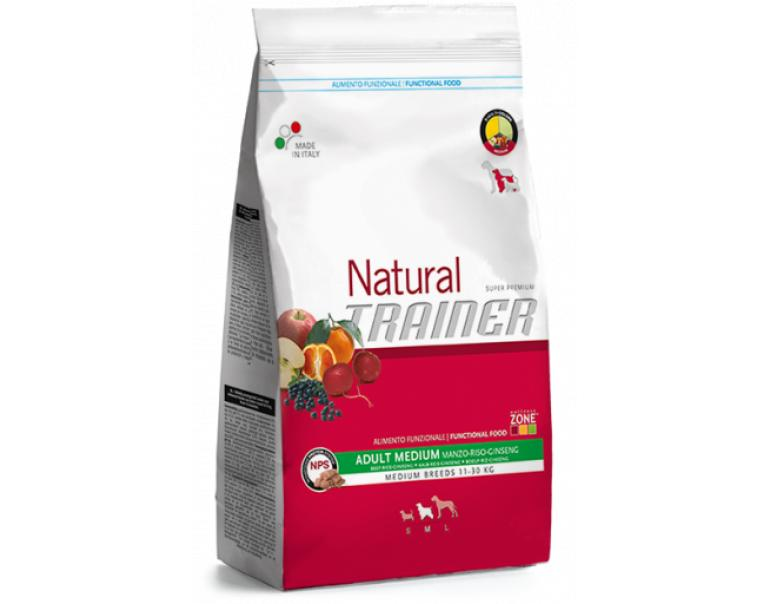 Trainer Natural Medium Adult Ternera Riso&Gins 12Kg
