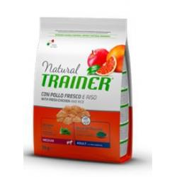 Trainer Natural Mediano Adulto Pollo Riso&Aloe 12Kg