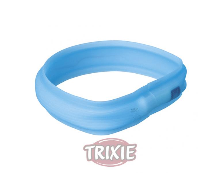 Trixie Banda Con Luz Flash USB Azul Agua L-XL 70 cm / 30 mm