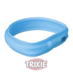 Trixie Banda Con Luz Flash USB Azul Agua M-L 50 cm / 30 mm