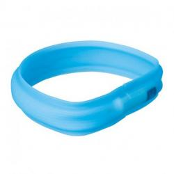 Trixie Banda Con Luz Flash USB Azul Agua XS-S 35 cm / 30 mm