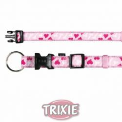 Trixie Collar Modern Art Rose Heart Rosa XS-S