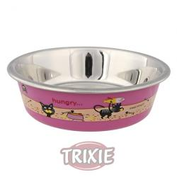 Trixie Comedero Acero Inoxidable Estampado 225ml
