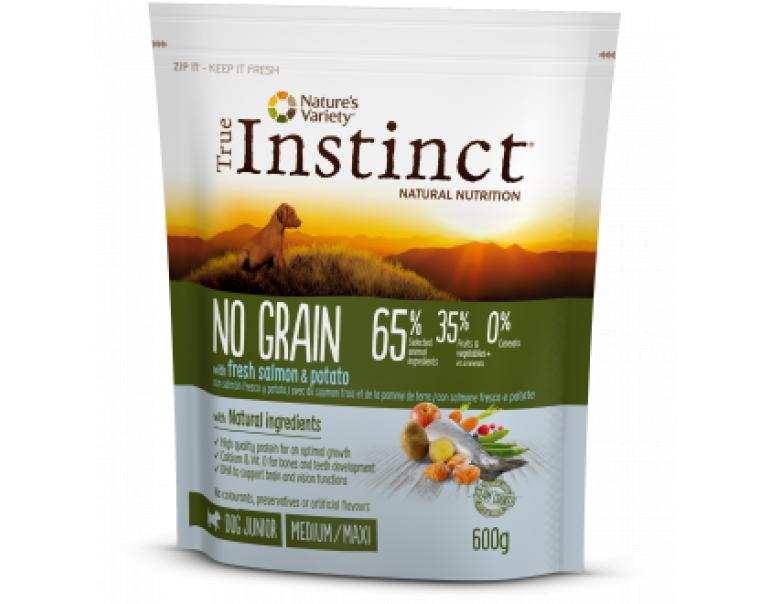 True Instinct No Grain Medium Puppy Salmón 600gr