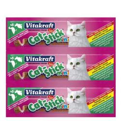 Vitakraft Cat-Stick Mini Pato & Conejo 3 uds