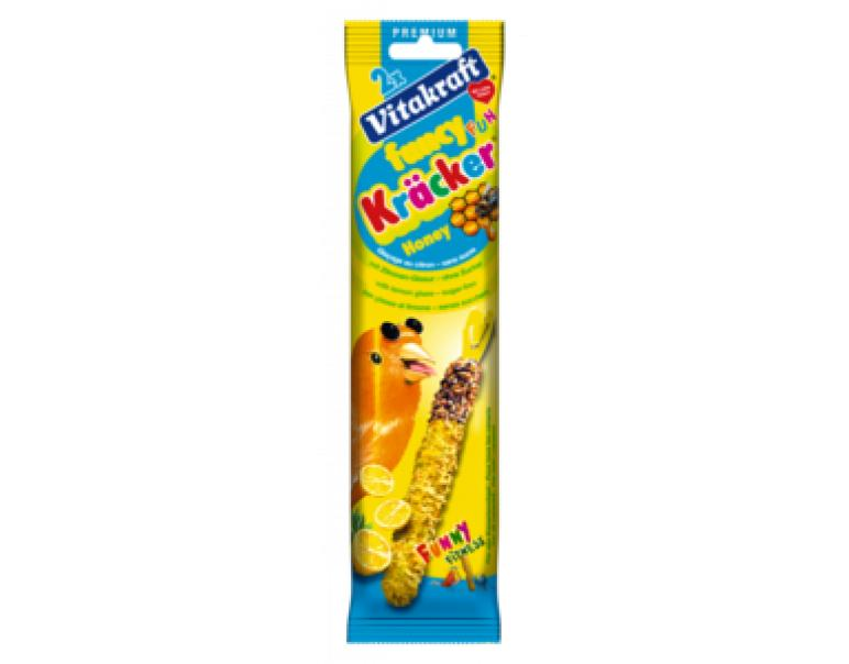 VitaKraft Funcy Fun Kracker barritas de miel y limón 2 unid