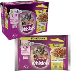 Whiskas Casserole Gatos Junior Aves 4 x 85 g
