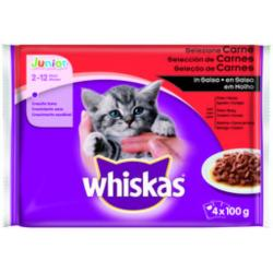 Whiskas Gato Junior Carne 13 x 4 x 100 g